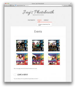 website for photographer Jay