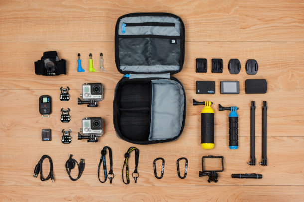 GoPro accessoires (skeleton case, grips, chest mounts)